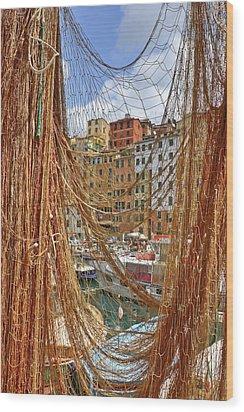 Port Of Camogli Wood Print by Joana Kruse