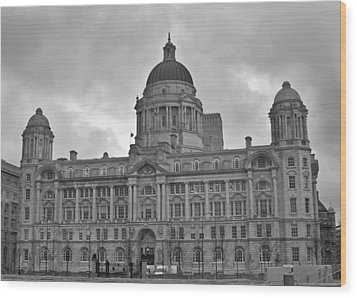 Port Of Liverpool Building Wood Print by Georgia Fowler