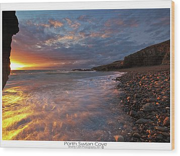 Wood Print featuring the photograph Porth Swtan Cove by Beverly Cash