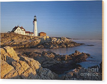 Portland Head Lighthouse Wood Print by Brian Jannsen