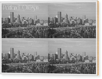 Portland  Oregon Wood Print by Cathie Tyler