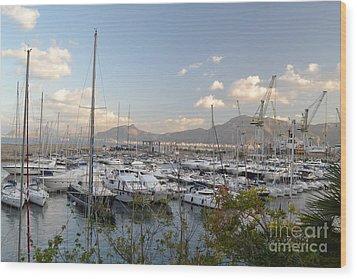 Porto Arenella Wood Print