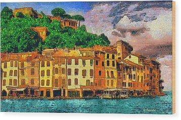 Portofino II Wood Print by George Rossidis