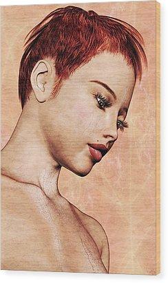Portrait - No. 10 - Colour Wood Print by Maynard Ellis