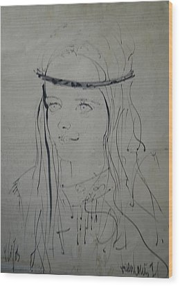 Portrait 1971 Colette Wood Print by Colette V Hera  Guggenheim