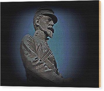 Portrait 29 American Civil War Wood Print by David Dehner