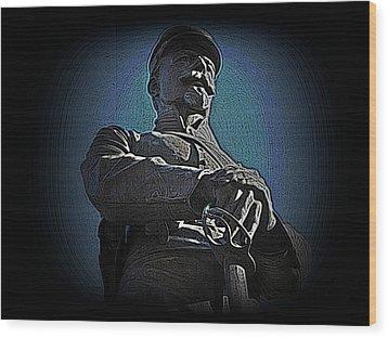 Portrait 36 American Civil War Wood Print by David Dehner