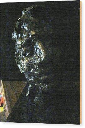 Portrait Head Wood Print by Lynnrose Light