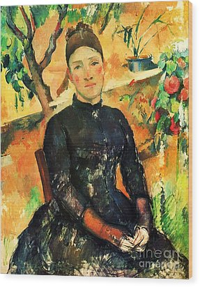 Portrait Madame Cezanne Wood Print by Pg Reproductions