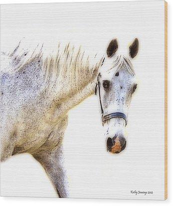 Portrait Of A Horse Series II Wood Print by Kathy Jennings