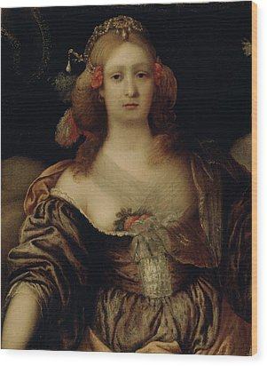 Portrait Of A Young Woman  Wood Print by Girolamo Forabosco