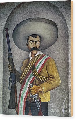 Portrait Of A Zapatista Wood Print by Granger