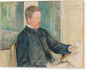 Portrait Of Alexander J. Cassatt Wood Print by Mary Stevenson Cassatt