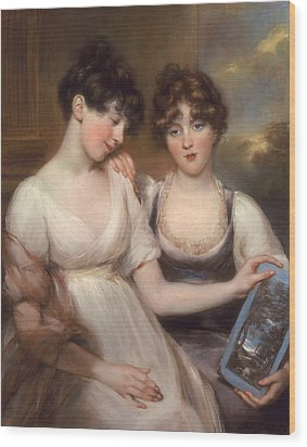 Portrait Of Anne And Maria Russell Wood Print by John Russell