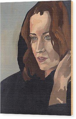 Portrait Of Becca 2 Wood Print