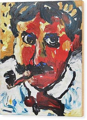 Portrait Of Derain After Vlaminck Wood Print