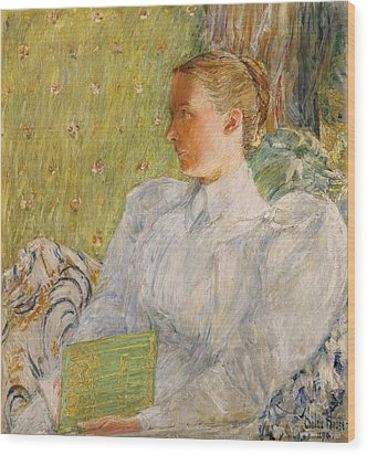 Portrait Of Edith Blaney Wood Print by Childe Hassam