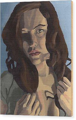 Portrait Of Emily Ann Wood Print