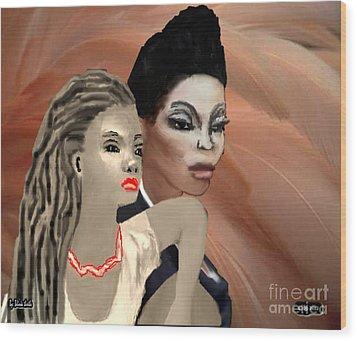 Portrait Of Inner Beauty Wood Print by Belinda Threeths