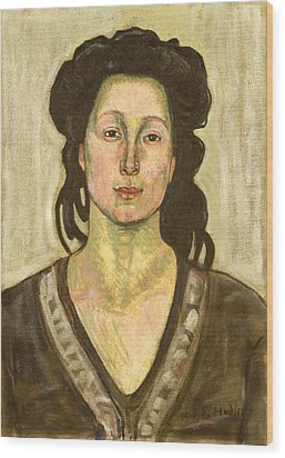 Portrait Of Jeanne Cerani Wood Print by  Ferdinand Hodler