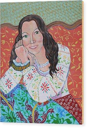 Portrait Of Kim Wood Print by John Keaton