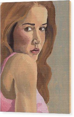 Portrait Of Laia Wood Print