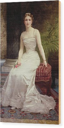 Portrait Of Madame Olry-roederer Wood Print by William-Adolphe Bouguereau