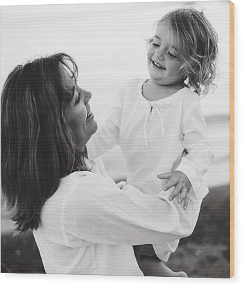 Portrait Of Mother And Daughter Wood Print by Michelle Quance