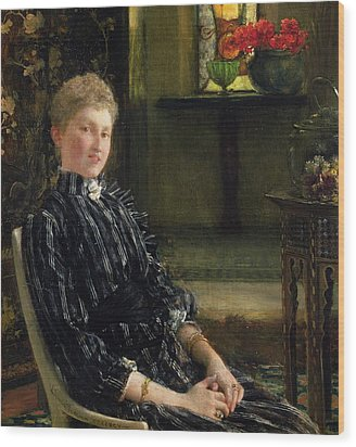 Portrait Of Mrs Ralph Sneyd Wood Print by Sir Lawrence Alma-Tadema