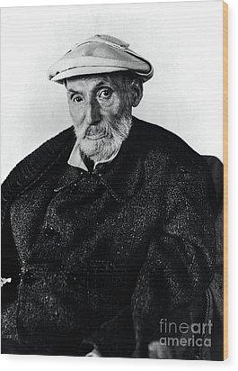 Portrait Of Renoir Wood Print by Photo Researchers