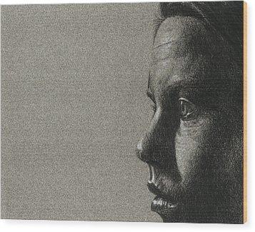 Portrait Of S Wood Print by David Kleinsasser