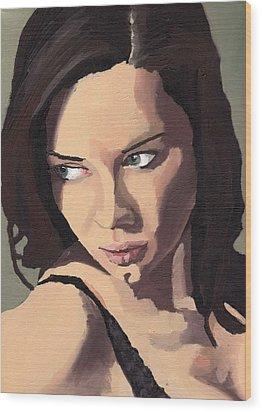 Portrait Of Sammy Paige Wood Print