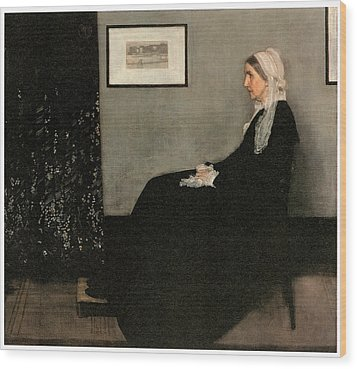 Portrait Of The Artist's Mother Wood Print by James Abbott McNeill Whistler