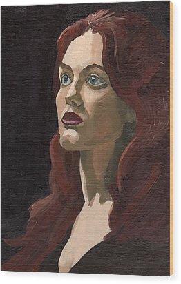 Portrait Of Virginia P Wood Print