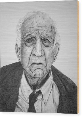 Portrait Of Wall Street Wood Print by Kenny Chaffin