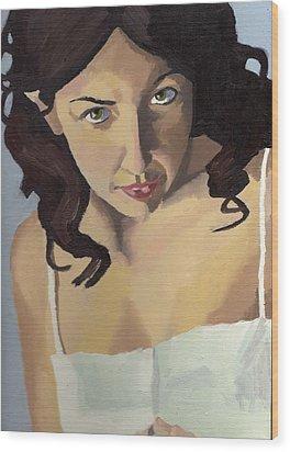 Portrait Of Zoe Wood Print