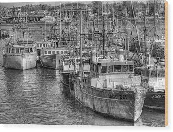 Portsmouth Fishing Fleet Wood Print by Ron St Jean