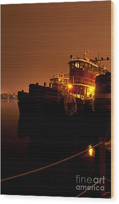 Portsmouth Tugs 1st Night Wood Print