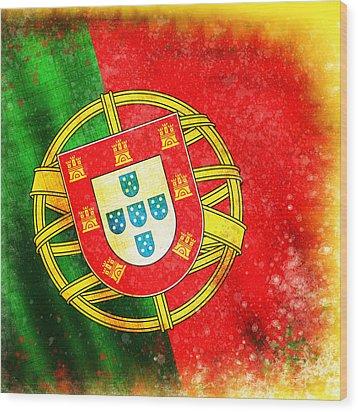 Portugal Flag  Wood Print by Setsiri Silapasuwanchai