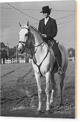 Portuguese Horse Rider Wood Print by Gaspar Avila
