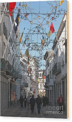 Portuguese Street Wood Print by Gaspar Avila