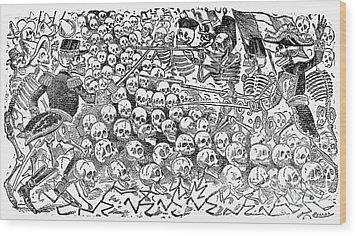 Posada: Skeletons, 1911 Wood Print by Granger