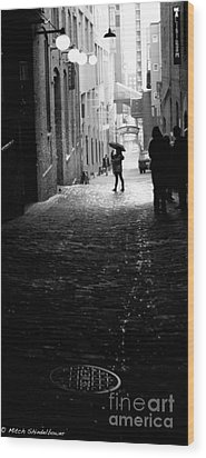Wood Print featuring the photograph Post Alley by Mitch Shindelbower
