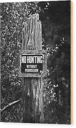 Wood Print featuring the photograph Posted by Randall  Cogle
