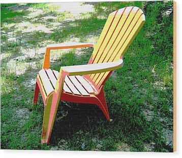 Poster Chair Wood Print by Regina McLeroy