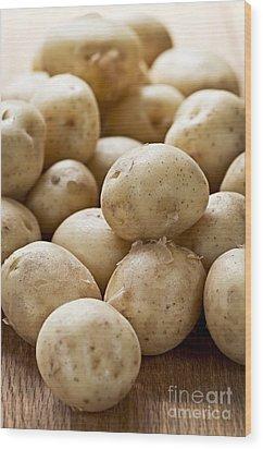 Potatoes Wood Print by Elena Elisseeva