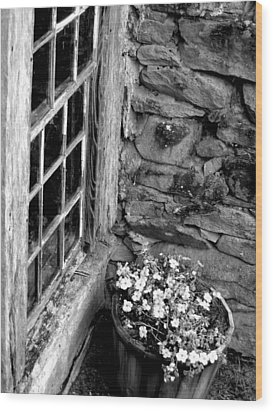 Wood Print featuring the photograph Pots And Panes by Lyn Calahorrano