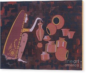 Potter Wood Print by Vilas Malankar