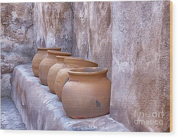 Pottery Of The Past Wood Print by Sandra Bronstein