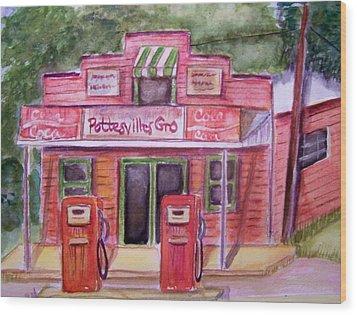 Pottesville Gro. Wood Print by Belinda Lawson